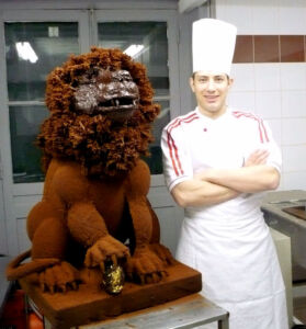 Lion en chocolat de Tony Speranza, L'Or Fève